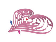 labyrintförälskelse Arkivfoto