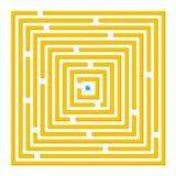 labyrintfyrkant Arkivfoto