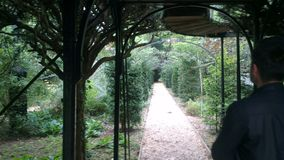 Labyrintgräsplan parkerar Fotografering för Bildbyråer