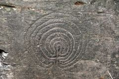 Labyrintgravure royalty-vrije stock foto