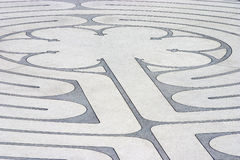 Labyrinth 1. The mazelike labyrinth with its roots in Greek mythology Royalty Free Stock Photos