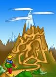 Labyrinth 10 lizenzfreie abbildung