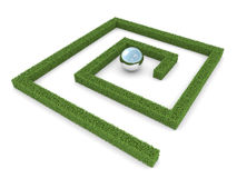 Labyrinth. Success metaphor. Isolated on white Stock Image