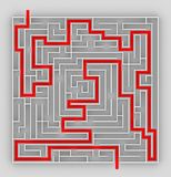 Labyrinth. Visualization: the virtual labyrinth plan Royalty Free Stock Images