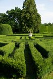 Labyrinth. From green bush in park Royalty Free Stock Photos