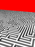Labyrinth. Huge and andless labyrinth of walls Stock Images