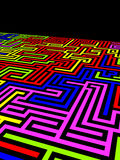 Labyrinth. Huge and andless labyrinth of walls Royalty Free Stock Photo