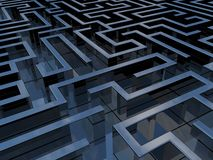 Labyrinth. 3D Labyrinth representing concepts like complexity, difficulties and project management Stock Photo