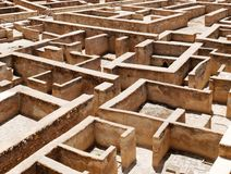 Labyrinth. At Alhambra Castle in Spain Stock Photo