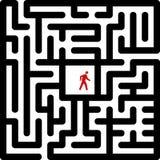 Labyrinth. Concept of labyrinth.  illustration Stock Photos