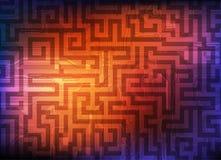 Labyrinth. Modern technology labyrinth. Conceptual background. eps10 Vector Illustration
