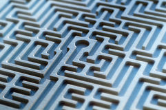 Labyrinth. Detail - vew from above Stock Photography