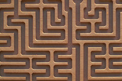 Labyrinth. Detail - vew from above Royalty Free Stock Image