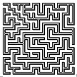 Labyrinth. In 3d optic. In grey and black Stock Image