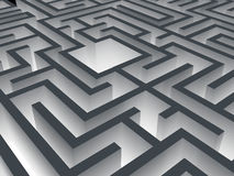 Labyrinth. 3d labyrinth with perspective view Royalty Free Stock Photos