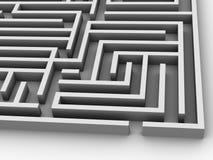 Labyrinth. Very beautiful three-dimensional illustration, figure.Labyrinth. 3d Stock Photos