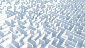 Labyrinth. Big Labyrinth - 3d rendered illustration Stock Photography
