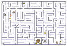 Labyrinth. Illustration on white Royalty Free Stock Images