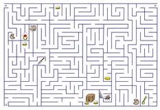 Labyrinth. Illustration on white Stock Illustration