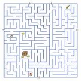 Labyrinth. Illustration on white Royalty Free Stock Image