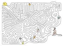 Labyrinth. Illustration on white Royalty Free Stock Photo
