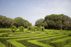 Labyrinth. Gardens of Labyrinth, in Barcelona (Spain Royalty Free Stock Photo