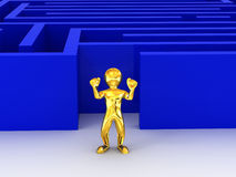 Labyrinth. 3d Royalty Free Stock Photography