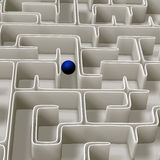 Labyrinth 3d Illustration. Labyrinth a hard way to success Stock Image