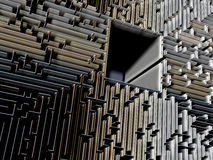 Labyrinth 3d Illustration. Labyrinth a hard way to success Stock Photo