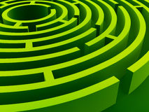 Labyrinth. Green labyrinth in diagonal perspective Royalty Free Stock Photography