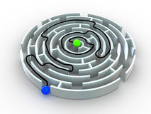 Labyrinth. Royalty Free Stock Photography