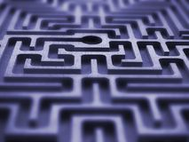 Labyrinth. Symmetric texture - blue light Stock Photos