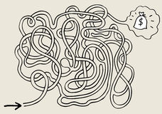 Labyrinth. The image of a labyrinth, rebus, problem royalty free illustration