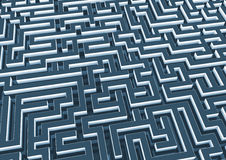 Labyrinth. Abstract three dimensional labyrinth in the future Royalty Free Stock Photos