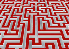 Labyrinth. Abstract three dimensional labyrinth in the future Royalty Free Stock Photography