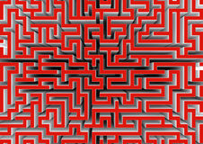 Labyrinth. Abstract three dimensional labyrinth in the future Stock Images