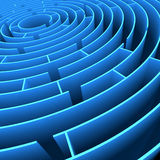 Labyrinth. Concept of lost, looking for something, brainstorm and idea Royalty Free Stock Image