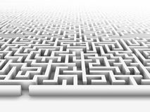 Labyrinth. High quality illustration of a large maze or labyrinth. Please see my portfolio for more in the series Royalty Free Stock Photography