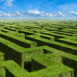 Labyrinth. Infinite labyrinth. Background for Poster or Card Royalty Free Stock Photos