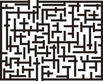 Labyrinth. With one enter and one exit (medium difficulty Stock Images