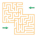 Labyrinth with arrows royalty free stock photography