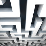 Labyrinth asymmetrical structure shape Stock Photo