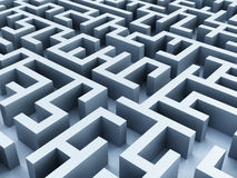 Labyrinth. Background  from vanishing perspective Stock Photos
