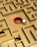 Labyrinth and ball Royalty Free Stock Photography