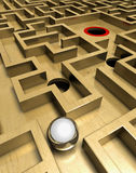 Labyrinth and ball Stock Photography