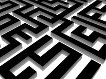 Labyrinth on black, 3D images Royalty Free Stock Images