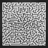 Labyrinth black and white perspective upper view Stock Image
