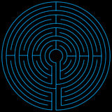 Labyrinth blue vectorized Stock Photography