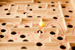 Labyrinth board game Royalty Free Stock Image