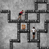 Labyrinth business concept Royalty Free Stock Photo